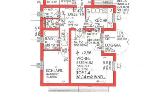 Provisionsfreie 2 Zimmerwohnung mit Loggia