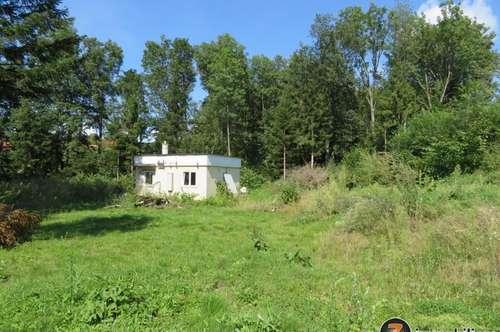 Nähe Pinkafeld: Schönes Grundstück mit kleinem Wochenendhaus!