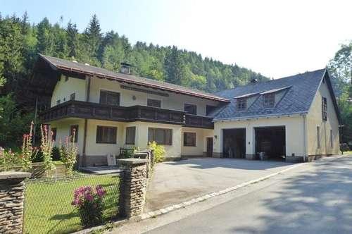 Großes gepflegtes Generationenwohnhaus mit Nebengebäuden und Garage in ruhiger, sonniger Lage im Schneebergland in 2761 Miesenbach