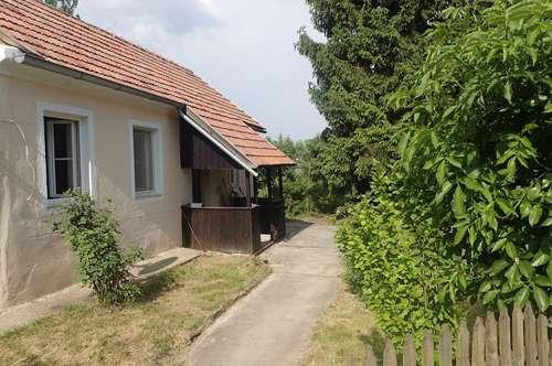 Kleines Wohnhaus mit großen Garten