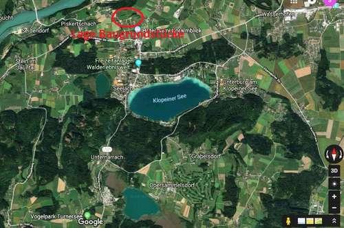 Baugrundstück, 979m², St. Kanzian/Klopeinersee, viel Sonne, für schnell Entschlossene
