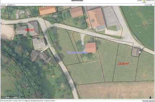 Baugrundstück in Stein im Jauntal mit 1.118 m² Bebauungsverpflichtung