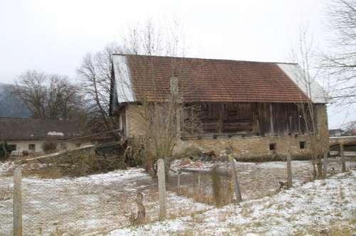 """Baugrundstück mit """"Scheune"""" in Strau/Kappel im Rosental"""