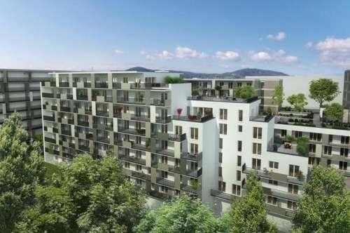 ERSTBEZUG - Brauquartier - Puntigam - 53m² - 3 Zimmer - großer Balkon oder Eigengartenanteil