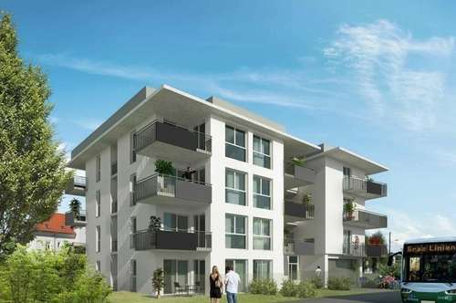 ERSTBEZUG - Gösting - 35m² - 2 Zimmer Wohnung - großer 17m² Balkon - inklusive TG-Parkplatz