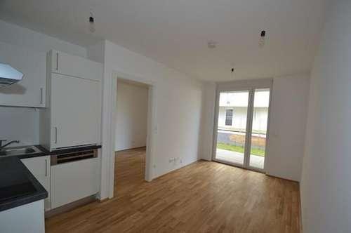 Neubau - Annenviertel - 35m² - 2 Zimmer - Gartenwohnung mit Terrasse - ideal für Singles