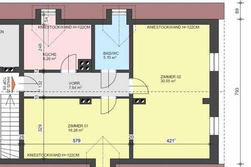 Gepflegte Wohnung + Gartenanteil