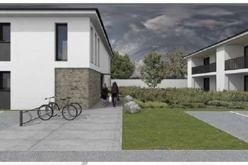 Neubezug, zwei Zimmer Mietwohnung mit Garten ab Ende 2018 bzw. Anfang 2019 bezugsfertig.