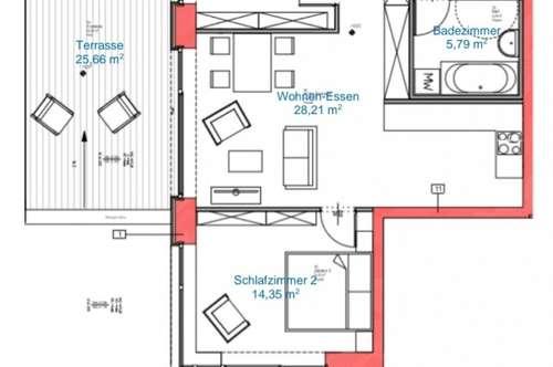 Pistennahe Neubauwohnung mit 2 Terrassen (Zweitwohnsitz)