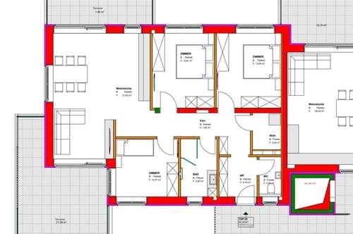 Barrierefreie 4 Zimmer-Erstbezugswohnung mit großzügiger Terrasse im Luftkurort Gröbming