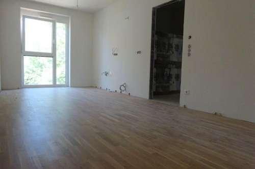 Schöne, lichtdurchflutete 2-Zimmer-Wohnung mit 18 m² großer Terrasse in zentraler Lage - Erstbezug