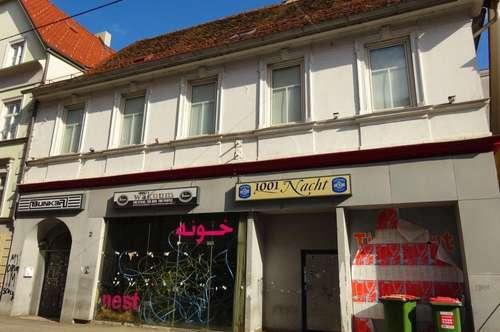 Sehr zentral gelegenes 3-geschossiges Zinshaus mit Baureserve im aufstrebenden Grazer Bezirk Gries