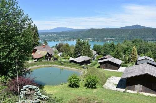 Herrliches Grundstück inklusive Seeblick, mit 4 Ferienhäusern, Nähe Velden/Wörthersee