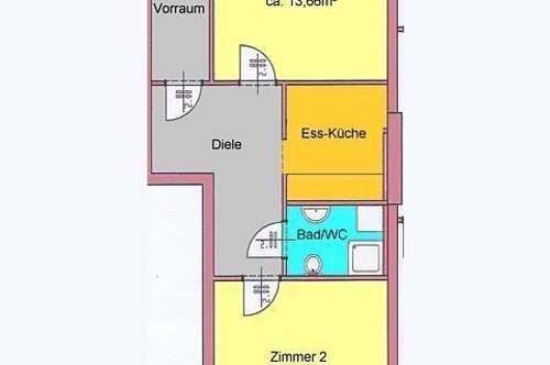 gepflegte 2-Zimmerwohnung - WG-tauglich - in Geidorf Nähe Hasnerplatz