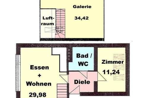 Schöne Galeriewohnung nähe TU ab 01.02.2020
