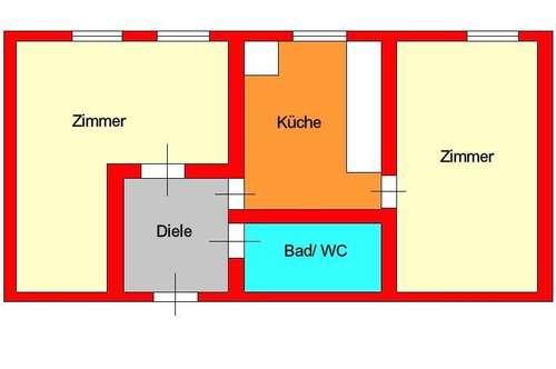 Günstige 2 Zimmerwohnung mit Essküche - nähe Griesplatz
