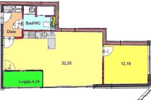 Moderne Stadtwohnung mit SW-Loggia in zentraler Bestlage bei TU