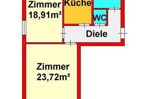 großzügige 2-Zimmer-Wohnung mit Balkon und Stellplatz
