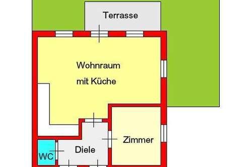 moderne 2-Zimmer-Neubauwohnung mit Terrasse, Garten und Autostellplatz in Puntigam