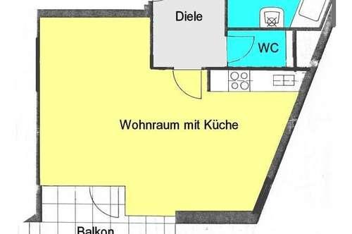 Stadt-Apartment mit ruhigen Innenhofbalkon zwischen Augarten und Finanzamt