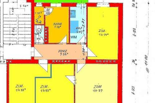 Perfekt aufgeteilte 4-Zimmer-Wohnung mit überdachter Terrasse