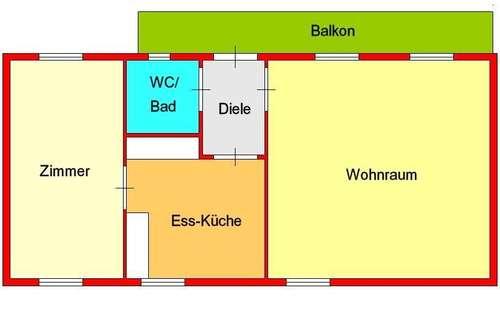günstige 2-Zimmerwohnung in St. Peter - Nähe Schimautz