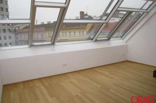 Futuristischer Designdachausbau / 3-Zimmer-Maisonette mit Loggia zur Miete in 1080 Wien