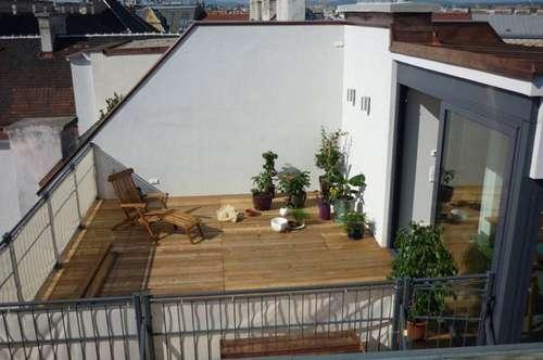 Dachgeschoßwohnung mit Dachterrasse in Wiener Toplage - zu mieten in 1040 Wien