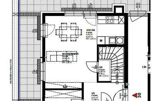 DG-Erstbezug-Wohnung mit Panoramaterrasse im modernen Neubauprojekt in 1210 Wien Jedlesee zu mieten