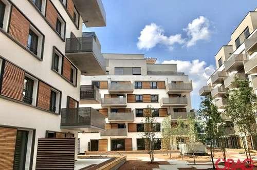5 IN 22: Unbefristete Drei-Zimmer-Wohnung mit 36 m² Terrasse - U2 Aspernstraße - 1220 Wien zur Miete