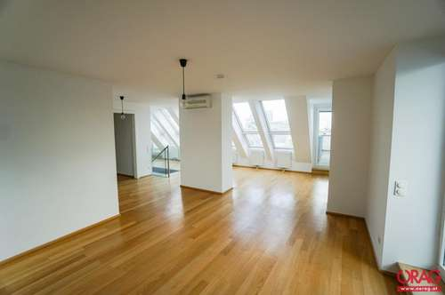 Eine Raritär : Dachterrassenwohnung mit Blick über die Dächer Wiens - zur Miete / for rent 1010 Wien