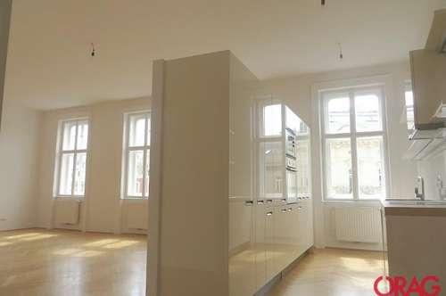 Großartige 4-Zimmer Maisonette-Wohnung mit zwei Terrassen am Rilkeplatz in 1040 Wien zu mieten