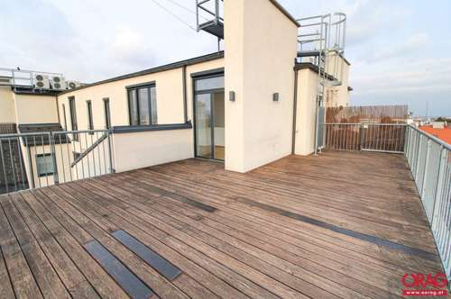 4-Zimmer Dachgeschoß-Maisonette mit 60 m² großer Terrasse nahe Schloss Belvedere - Miete 1040 Wien