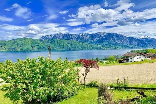 Atemberaubender Seeblick Premium Grundstück mit Bestand