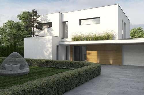 Neubauprojekt, moderne Villa, Grünruhelage