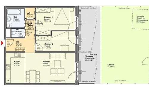 Biotope City: Garten-Wohnung am Wienerberg - provisionsfrei