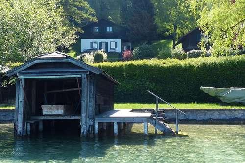 Seeliegenschaft am Attersee mit Bootshaus