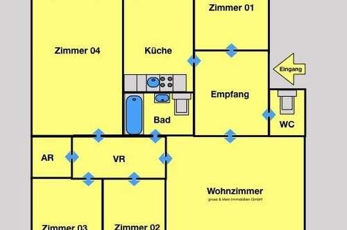 Wow- 5 Zimmer Wohnung mit Terrasse & Grünblick.  __Erfreuliche Einteilung -  Hell & Freundlich.