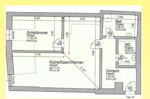 Herz - was begehrst du -  Bruttomiete 555,43 EUR  im Zentrum von Feldkirchen