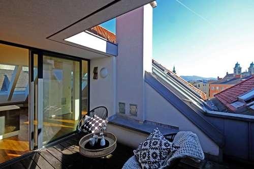 Linz: Dachgeschoss-Maisonette inmitten der historischen Altstadt
