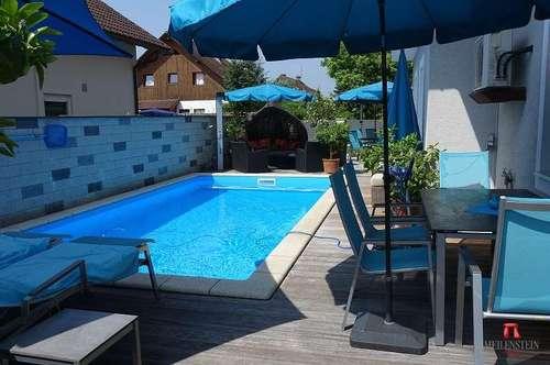 Top Einfamilienhaus mit Pool in Stadtnähe