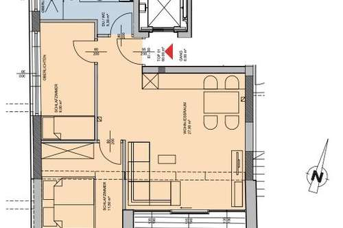 Heute kaufen, Ende 2020 bezahlen: 3-Zimmer-Wohnung mit Loggia