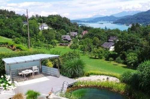 Wörtherseeblick: Luxuriöse Villa mit Einliegerwohnung