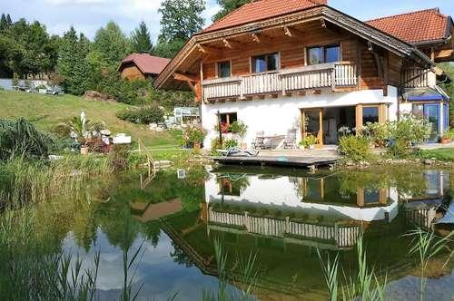Velden am Wörthersee: Urgemütliches FAMILIENhaus mit Traumfernsicht und Schwimmteich
