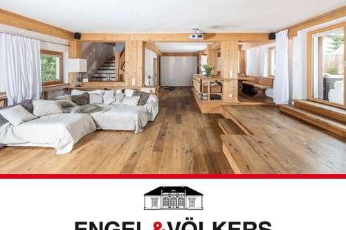 Große Wohnung im Altholz-Stil mit Bergpanorama