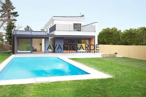 Moderne Villa mit weitläufigem Garten und Pool