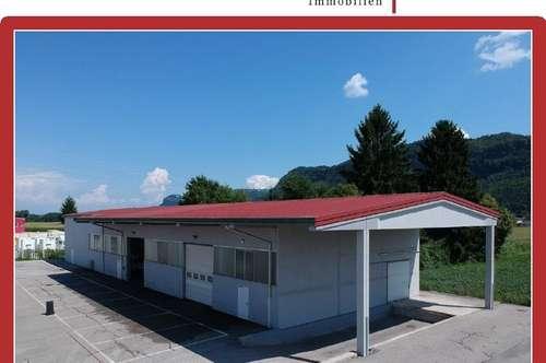 Lager- oder Produktionshalle mit Büro und Freiflächen