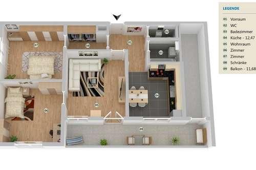 Charmante 3 Zimmer Wohnung  zentrale Lage!