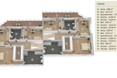 Luxuriöse Bleibe mit 164 m² und Garten - Baubeginn Herbst 2018
