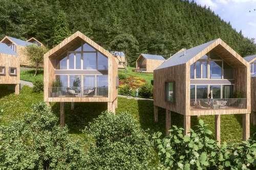 """Exklusive Alpin-Chalets """"HochOben"""" als Renditeimmobilie"""